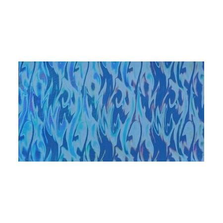 Cire décorative hologramme aqua bleu 175 x 80 0.5 mm