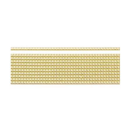 Bandes de cire perlées 2mm doré