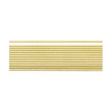 Bande de cire ronde doré 2mm 20cm