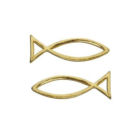 Poisson en cire or 40x13mm
