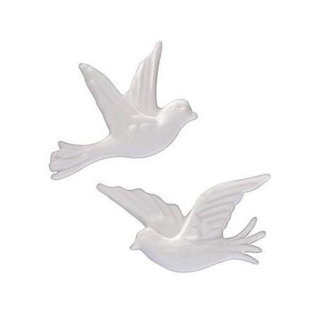 Couple de colombes, blanc 35mm