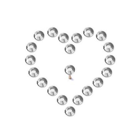 Pin's brillant crystal 3,8mm