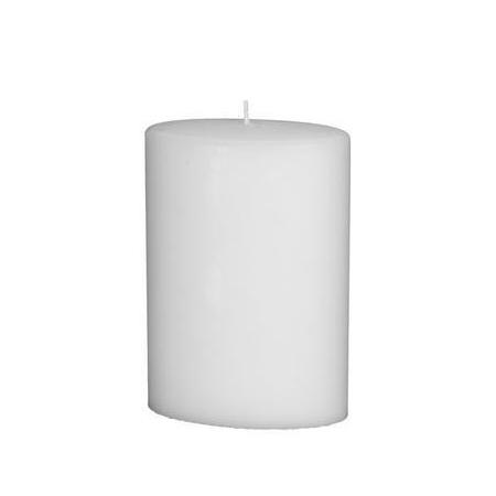 Bougie ovale 200x135mm blanc