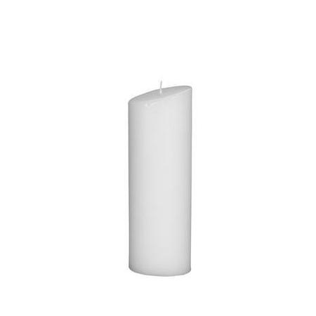 Bougie ovale 200x65mm blanc