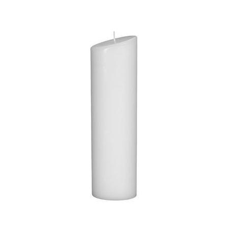 Bougie ovale 240x65mm blanc