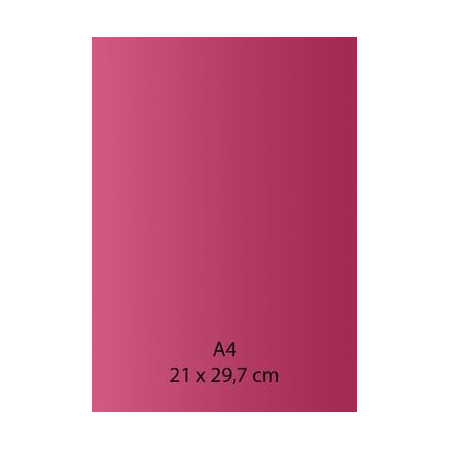 Papier auto-adhésif fushia A4 110GRS