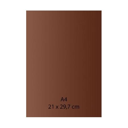 Papier auto-adhésif marron A4 110GRS