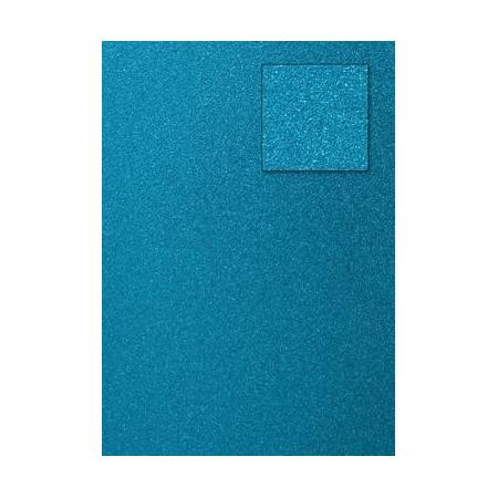 Carton pailleté turquoise A4 200GRS