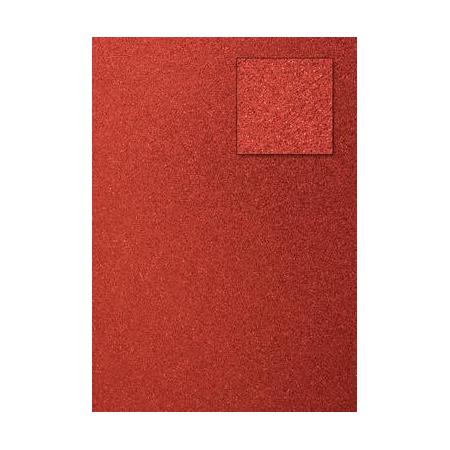 Carton pailleté rouge A4 200GRS
