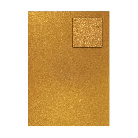 Carton pailleté or foncé A4 200GRS