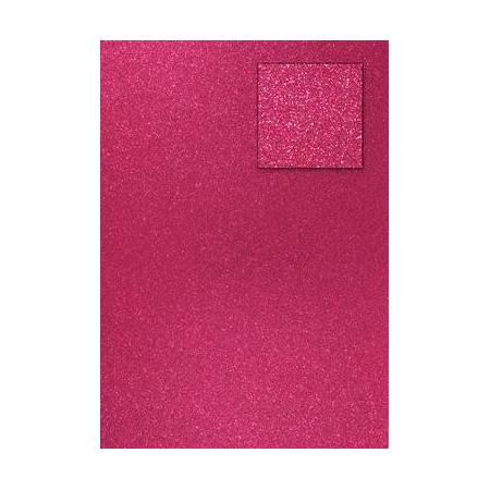 Carton pailleté rouge français A4 200GRS