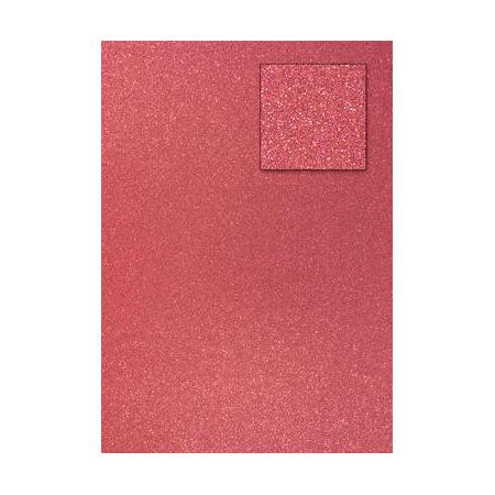 Carton pailleté corail A4 200GRS