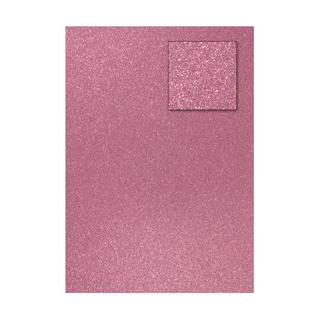 Carton pailleté rose clair A4 200GRS