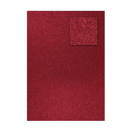 Carton pailleté rouge vin A4 200GRS