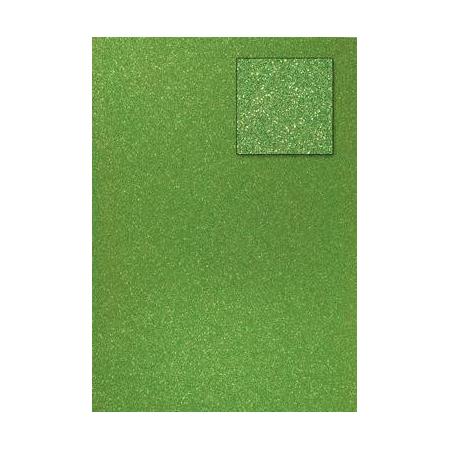 Carton pailleté vert olive A4 200GRS