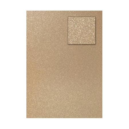 Carton pailleté or clair A4 200GRS