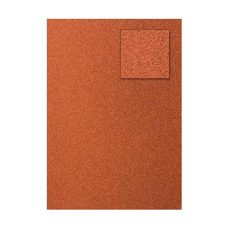 Carton pailleté rouge orangé A4 200GRS