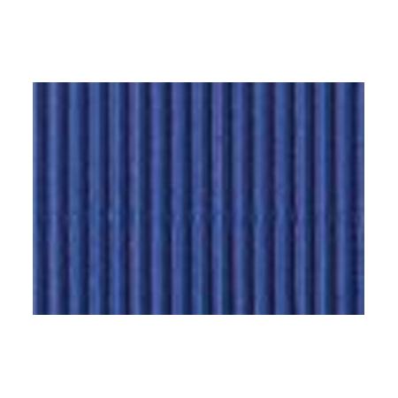 Carton ondulé 50x70cm bleu