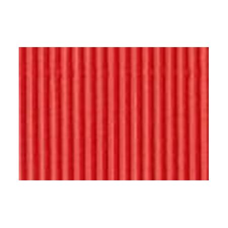 Carton ondulé 50x70cm,rouleau,rouge