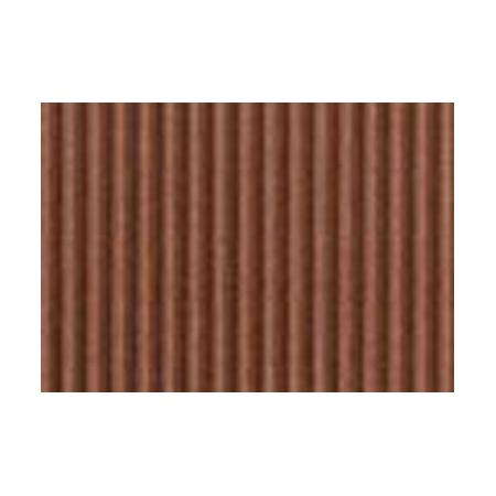 Carton ondulé 50x70cm,rouleau,sépia