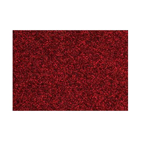 Film à repasser glitter A4 rouge