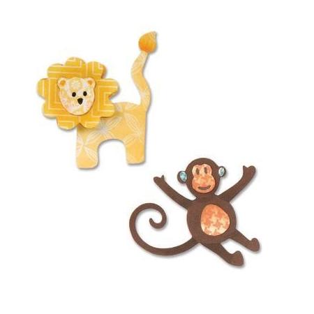 Thinlits Dies - Lion & monkey