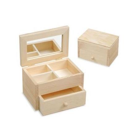 FSC Boîte en bois à bijou13x8