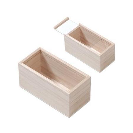 FSC Boîte en bois couve.verre16,5