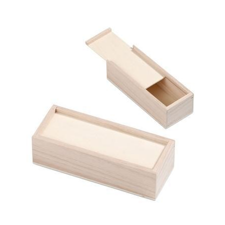 FSC Porte-crayons en bois 18x7