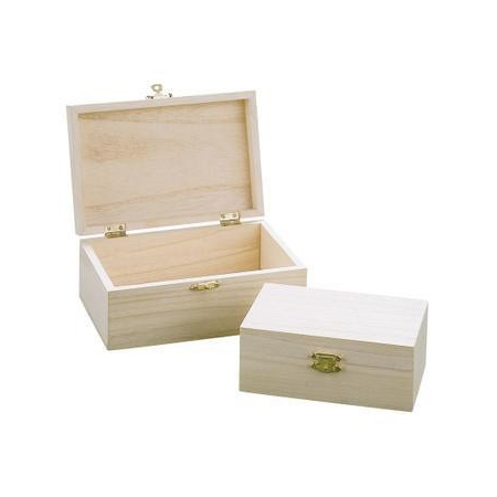 Assort.de 2 boîtes en bois