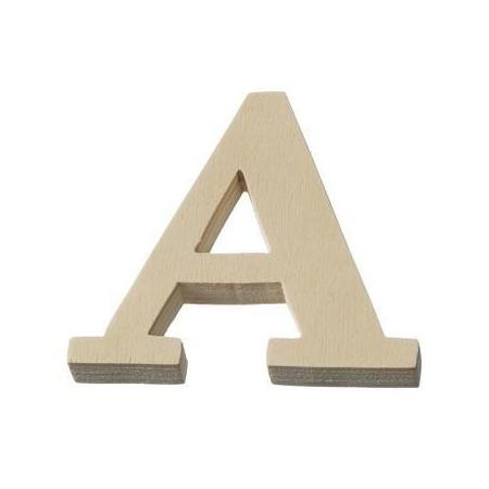 Lettre en bois'A'8cm
