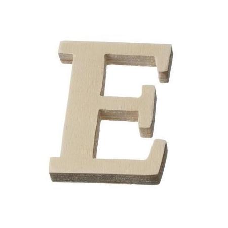 Lettre en bois'E'8cm