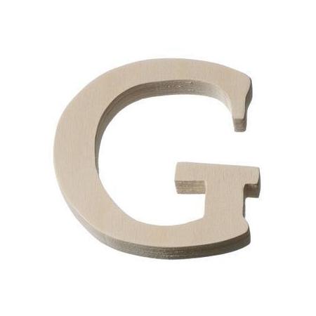 Lettre en bois'G'8cm
