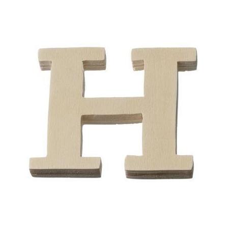 Lettre en bois'H'8cm