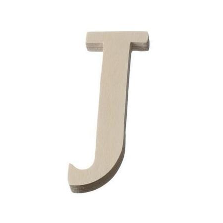 Lettre en bois'J'8cm