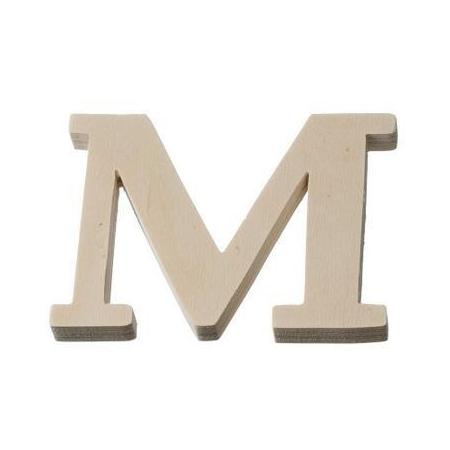 Lettre en bois'M'8cm