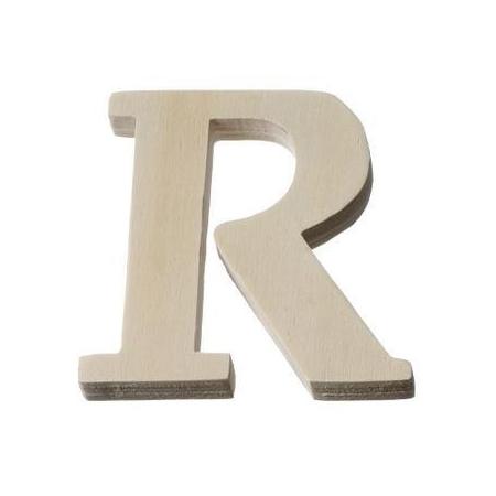 Lettre en bois'R'8cm
