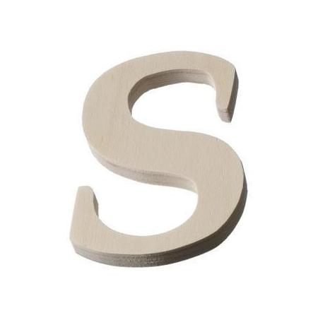 Lettre en bois'S'8cm