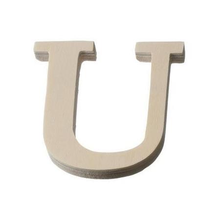 Lettre en bois'U'8cm