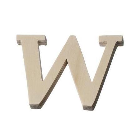 Lettre en bois'W'8cm