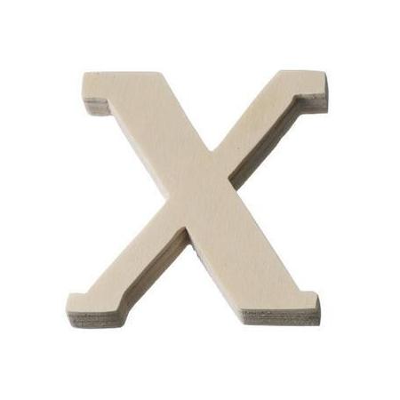 Lettre en bois'X'8cm