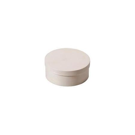 Boite en copeaux ronde en peuplier d:3,5x2cm