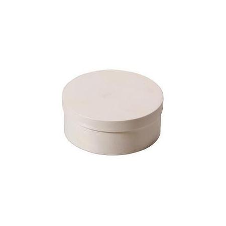 Boite en copeaux ronde en peuplier d:8x4cm