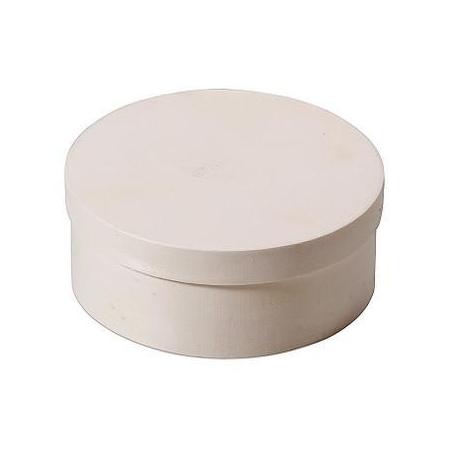 Boite en copeaux ronde en peuplier d:22x8,5