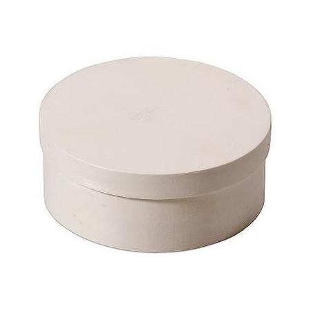 Boite en copeaux ronde en peuplier d:25x8,5