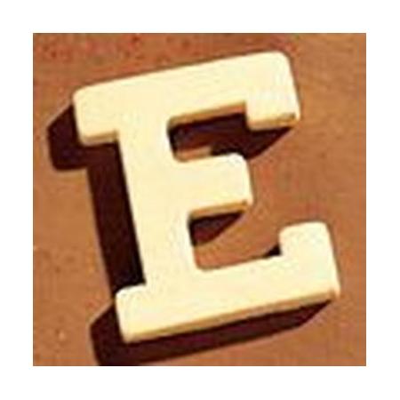 Lettre en bois 'E' 4cm