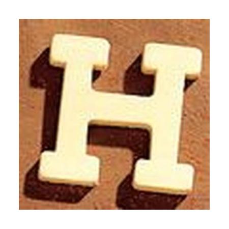 Lettre en bois 'H' 4cm