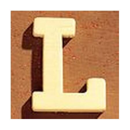 Lettre en bois 'L' 4cm
