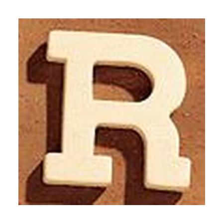 Lettre en bois 'R' 4cm