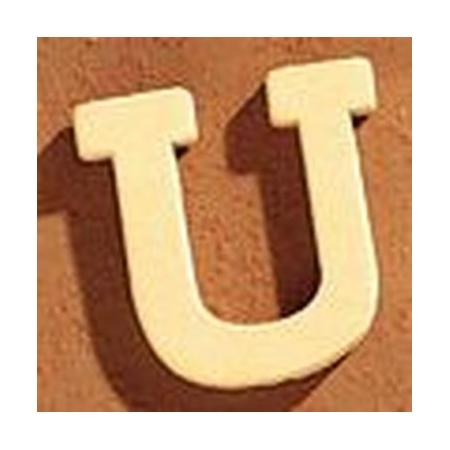Lettre en bois 'U' 4cm